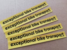 5 Stickers Exceptional Bike Transport